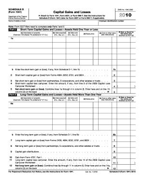 IRS Schedule D (1041 form) | PDFfiller