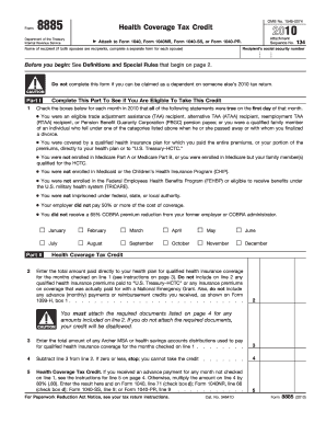 2010 Form 8885 - Fill Online, Printable, Fillable, Blank | PDFfiller