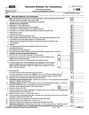 2009 Form 4626 Fill Online Printable Fillable Blank Pdffiller