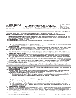5305 simple 2008  form