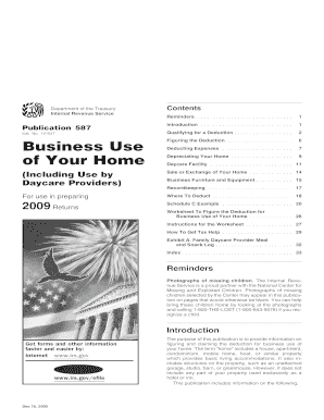 2009 irs publication 587
