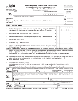 Heavy Highway Vehicle Use Tax Return Form Templates - Fillable ...