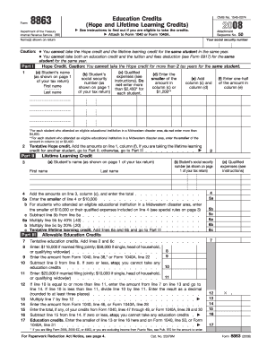 Form 8863 - Fill Online, Printable, Fillable, Blank | PDFfiller