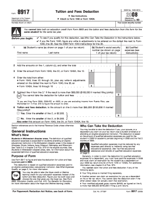 form 8917 Templates - Fillable & Printable Samples for PDF, Word ...