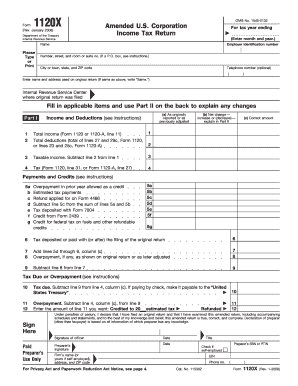 form 1120x fill in