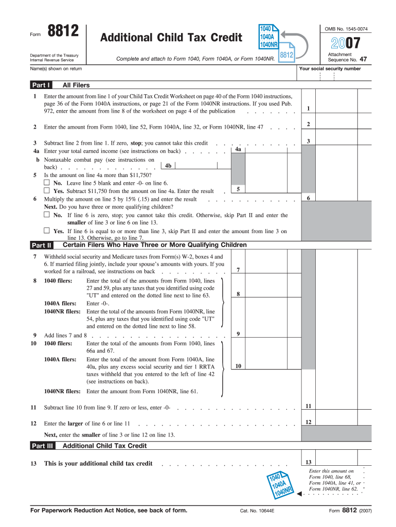 form 1040 child tax credit  15 Form IRS 15 Fill Online, Printable, Fillable, Blank ...