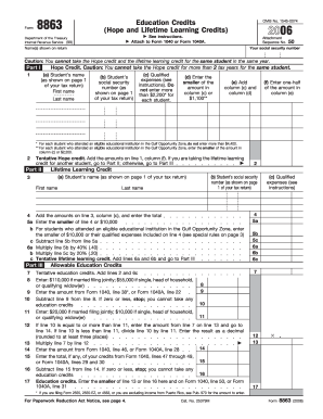 IRS 8863 form | PDFfiller