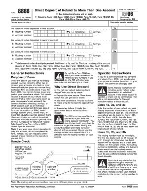 8888 Form 2006 - Fill Online, Printable, Fillable, Blank | PDFfiller