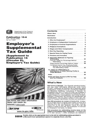 Publication 15-A (Rev. January 2006). Employer's Supplemental Tax Guide