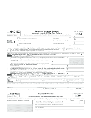 form 940 2004 fill online printable fillable blank