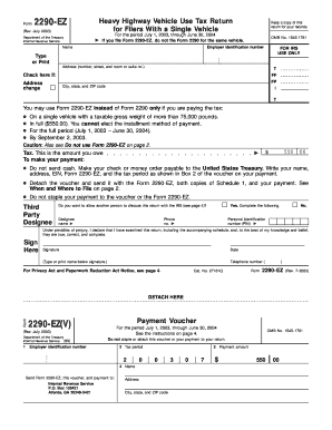 24 Printable Irs Form 2290 Templates - Fillable Samples in