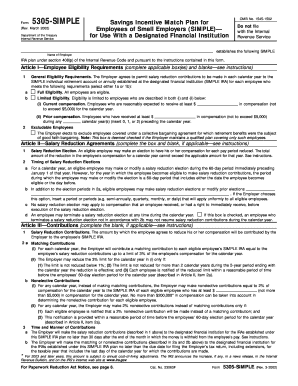 Form 5305 Simple 2002 - Fill Online, Printable, Fillable, Blank ...
