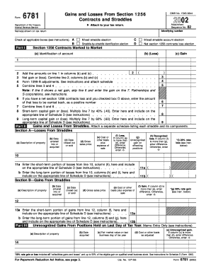 How To Fill Box A B C D On Form 6781 - Fill Online, Printable ...