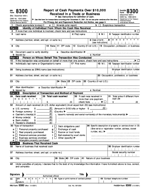 Irs Form 8300 Fillable - Fill Online, Printable, Fillable, Blank ...
