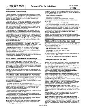 Form 1040 Es Ocr - Fill Online, Printable, Fillable, Blank | PDFfiller