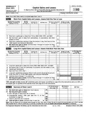 Capital loss carryover worksheet in the instructions for schedule d form 1041