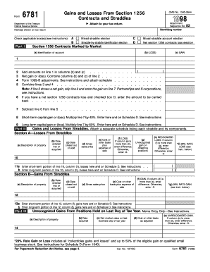 Form 6781 - Fill Online, Printable, Fillable, Blank | PDFfiller
