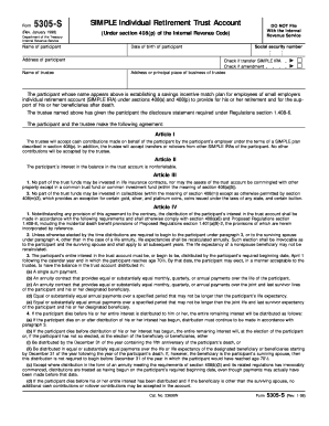 form 5305 simple 1998