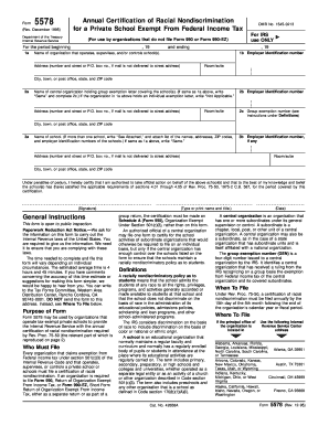 Tax Form 5578 - Fill Online, Printable, Fillable, Blank | PDFfiller