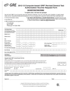 2012 13 Computer Based Gre Registered Revised General Test