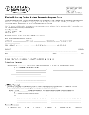 2013-2017 Form DeVry University Transcript Request Form Fill ...
