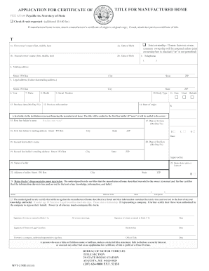 mva application for duplicate title
