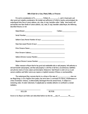 Sc Bill Of Sale >> 16 Printable Gun Bill Of Sale Forms And Templates Fillable