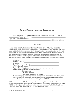Third party lender agreement fill online printable fillable third party lender agreement fill online printable fillable blank pdffiller platinumwayz