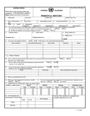 Unhcr P11 Form Download - Fill Online, Printable, Fillable, Blank ...