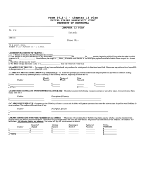 Chapter 13 Rule 3015 Pdf Form - Fill Online, Printable, Fillable ...