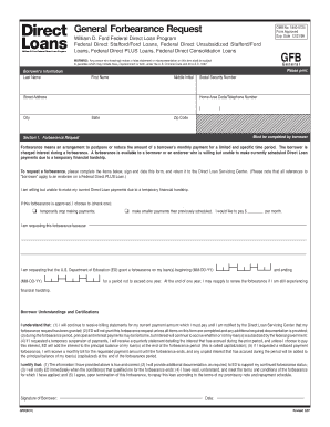 Us Department Of Education General Forbearance Form - Fill Online ...
