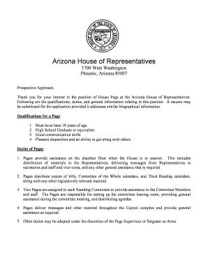 Arizona State Representatives >> Arizona State Legislature Chris Balmos Fill Online