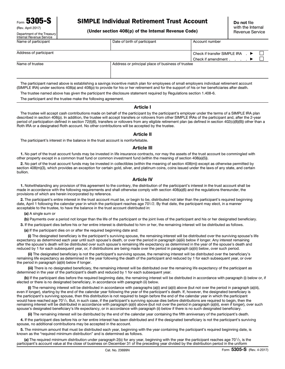 Form 5305-S