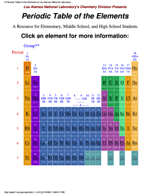 Fillable online cdc a periodic table of the elements at los alamos fill online urtaz Choice Image