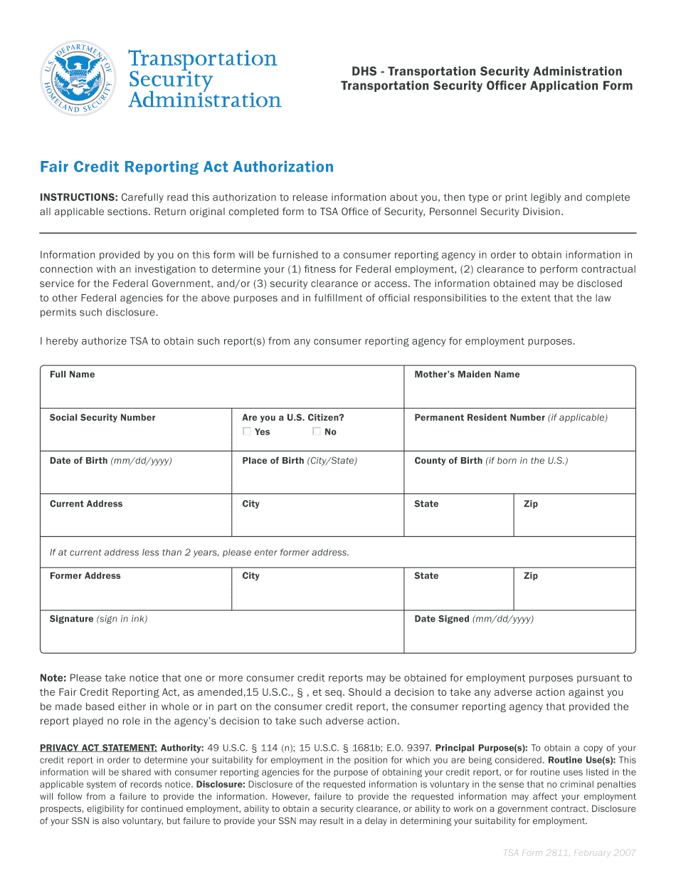 standard form 2823