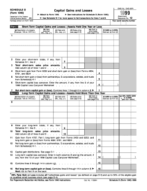 form 1040 schedule d  Fillable Online irs 14 Form 14 (Schedule D) - irs Fax ...