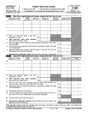 Fillable Online irs 2000 Form 1040 (Schedule D)  Capital Gains and