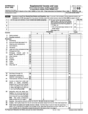 Schedule E (1040 Form) Templates - Fillable & Printable Samples ...
