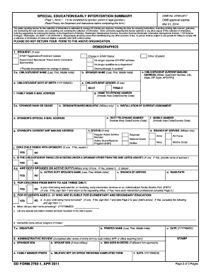 fillable online dtic dd form 2792 1, special education