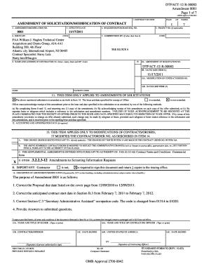 DTFACT-12-R-00002 Amendment 0001 Page 1 of 7 AMENDMENT ...