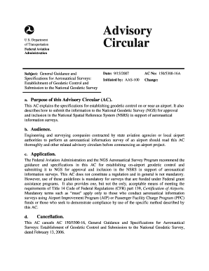 Fillable online faa ac 1505300 16a general guidance and fill online publicscrutiny Choice Image