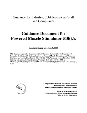 Fillable Online fda Guidance Document for Powered Muscle