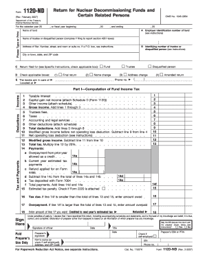 Form 1120-ND (Rev. February 2007 ) - IRS - irs