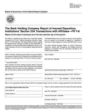 The Bank Holding Company Report of Insured Depository Institutions - federalreserve