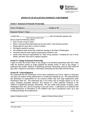 Affidavit of personal relationship fillable form