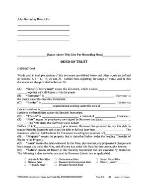Tennessee Deed Trust - Fill Online, Printable, Fillable, Blank ...