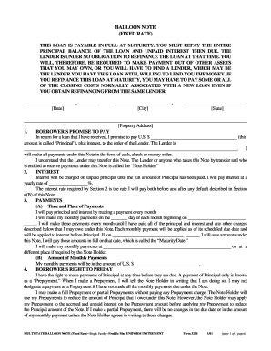 Fillable Online Form 3290: Multistate Balloon Note (Fixed Rate ...