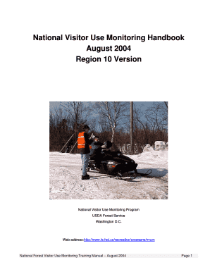 National Visitor Use Monitoring Handbook  - USDA Forest Service - fs fed