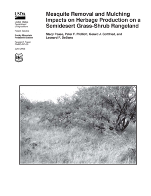 Mesquite removal and mulching impacts on herbage production on a semidesert grass-shrub rangeland. RMRS-RP-59 - fs fed