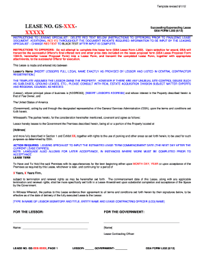 GSA FORM L202. Succeeding/Superseding Lease   Gsa  Letter Of Personal Apology